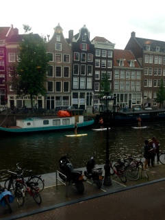 Looking out from the Anne Frank House.